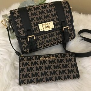 Michael Kors Bedford school messenger bag & wallet